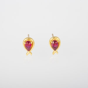 Ruby Ribbon Studs