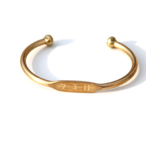 Small Personalized Brass Cuff Bracelets