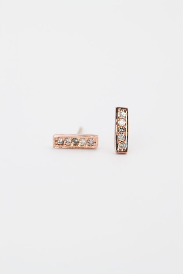 Bar Diamond Studs