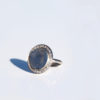 Round Diamond Bezel Fingerprint Ring