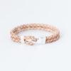 Hook Lock Leather Bracelet