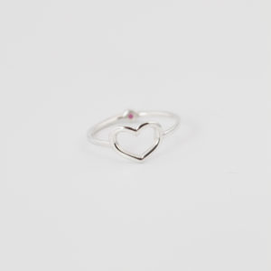 Heart Ring Birthstone