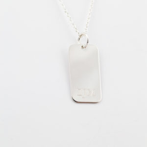 Rectangle Monogram Charm
