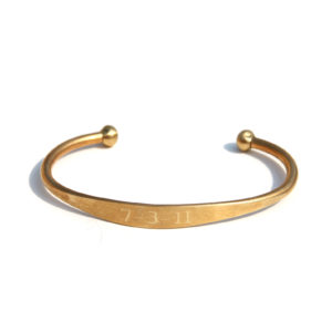 Large Brass Cuff Bracelet
